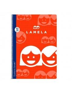 LAMELA CUADERNO FOLIO CUADRICULA 3MM.. 4MM. O 5MM. 80 HOJAS CON ESPIRAL Y TAPA BASICA