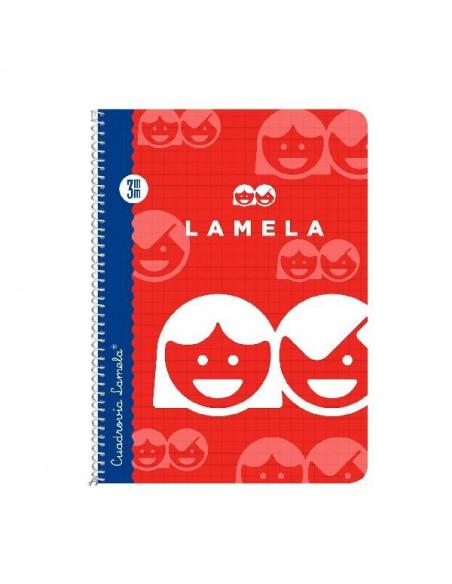 CUADERNO LAMELA 1/4 CON CUADRICULA 3MM CON 40 HOJAS Y ESPIRAL TAPA BASICA