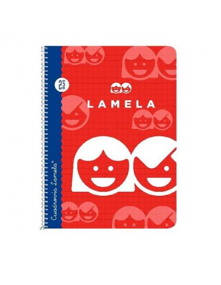 CUADERNO LAMELA 1/4 CON CUADRICULA 2.5 MM CON 40 HOJAS Y ESPIRAL TAPA BASICA