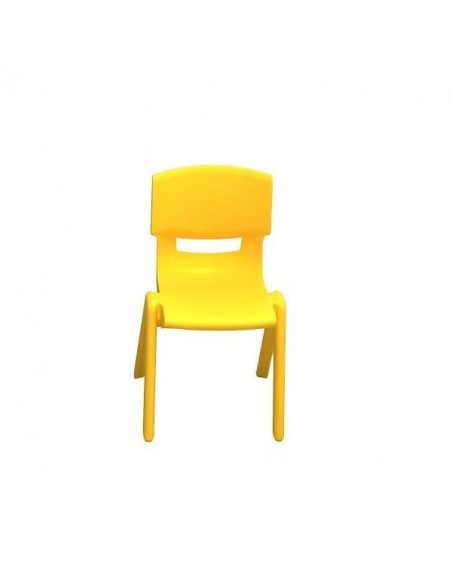 SILLA ESCOLAR DE POLIPROPILENO ELITE TALLA 3 DE 34 CM COLOR AMARILLO