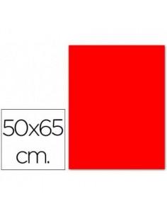 CARTULINA FLUORESCENTE ROJA DE 50 X 65 CM 180 GRAMOS