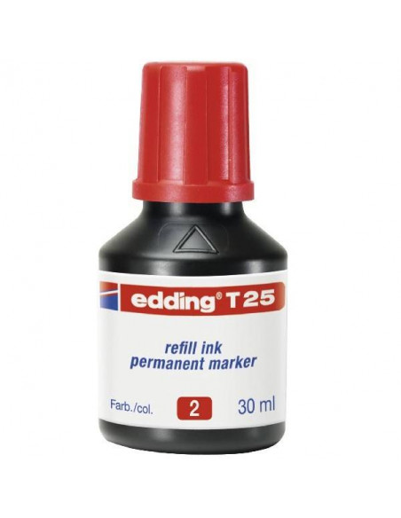 TINTA EDDING COLOR ROJO T25 30 ML
