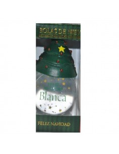 BOLA DE NAVIDAD BLANCA