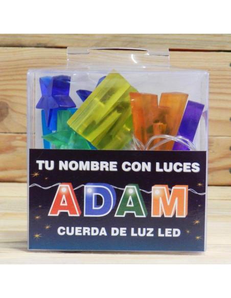 CUERDA CON NOMBRE LED ADAM