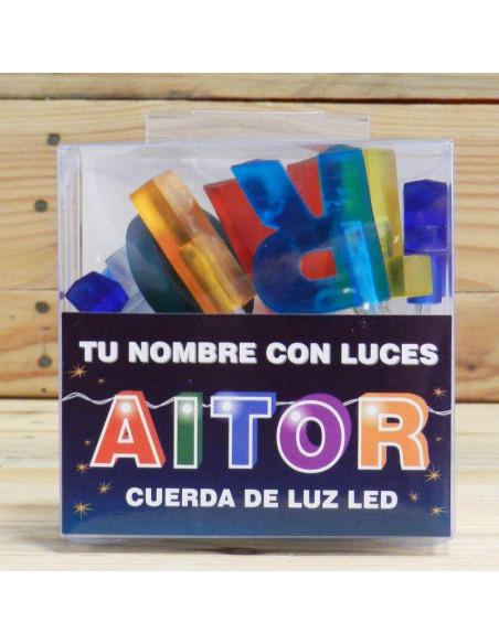 LUCES LED CON NOMBRE AITOR