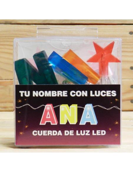 CUERDA CON NOMBRES LED ANA