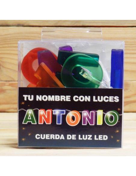 LUCES LED CON NOMBRE ANTONIO
