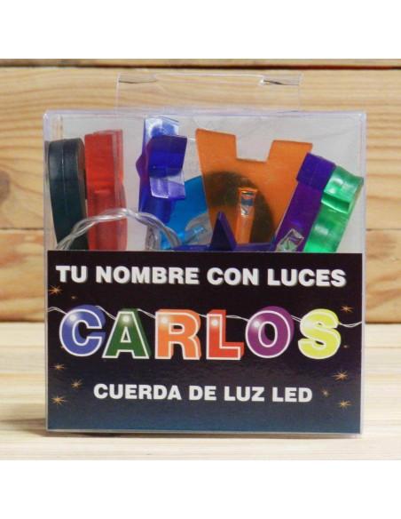 CUERDA CON NOMBRE LED CARLOS