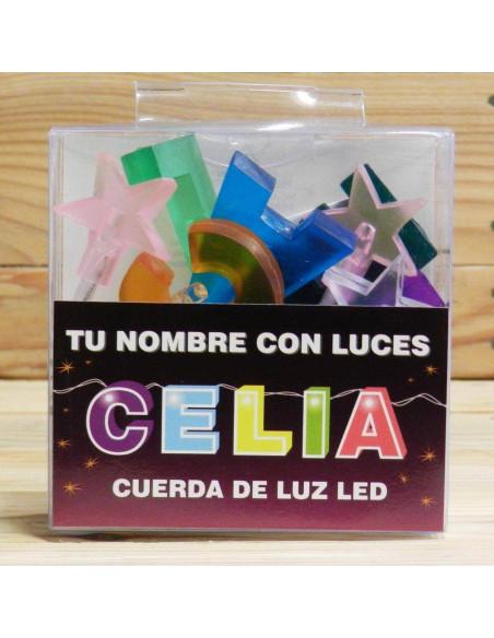 CUERDA DE LETRAS LED CELIA