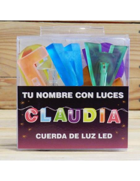 LUZ LED EN FORMA DE NOMBRE CLAUDIA