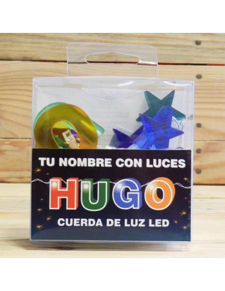NOMBRE EN FORMA DE LUCES LEDS HUGO