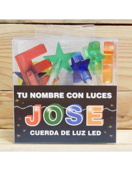 CUERDA CON LETRAS LED JOSE
