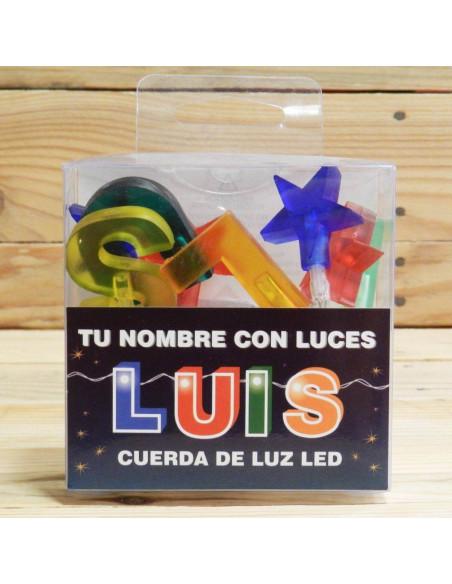 """CUERDA DE LETRAS LED """"LUIS"""""""