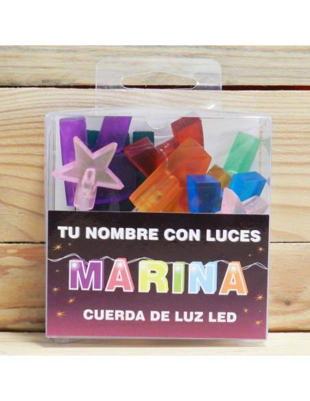 "LUCES LED CON NOMBRE ""MARINA"""