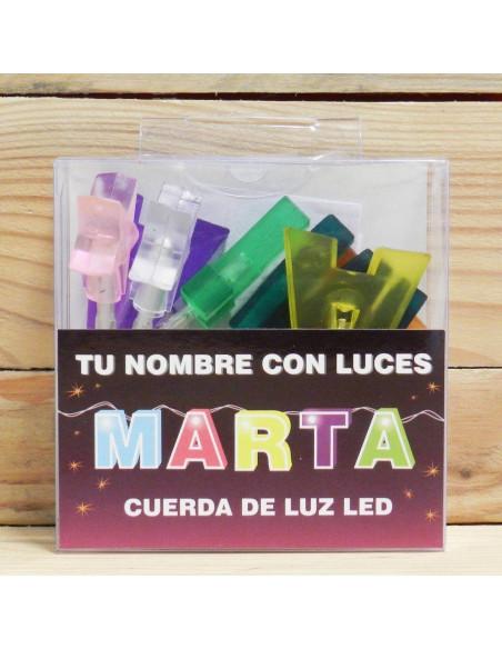 """LUCES LED CON NOMBRES """"MARTA"""""""