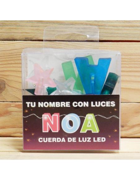 "CUERDAS CON LETRAS LED ""NOA"""