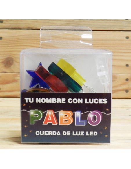 """CUERDA CON LETRAS LED """"PABLO"""""""