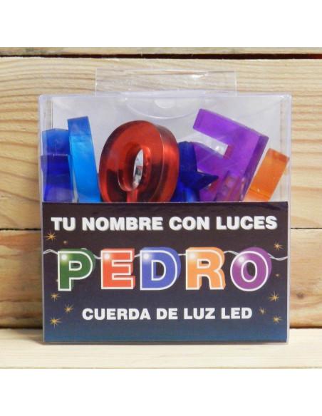 """NOMBRES CON LUCES LED """"PEDRO"""""""