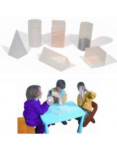 JUEGO DIDACTICO GEOS DE FIGURAS GEOMETRICAS 3D TRANSPARENTES