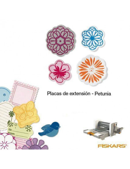 PLACAS DE EXTENSION MINI PARA TROQUELES DE LA MAQUINA FUSE CREATIVITY SYSTEM PETUNIA