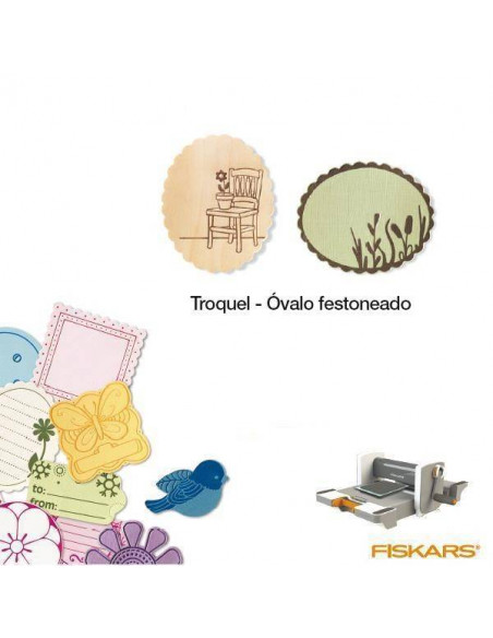 TROQUEL PARA MATERIALES GRUESOS TAMAÑO MEDIANO PARA MAQUINA FUSE CREATIVITY SYSTEM MOD. OVALO FESTON