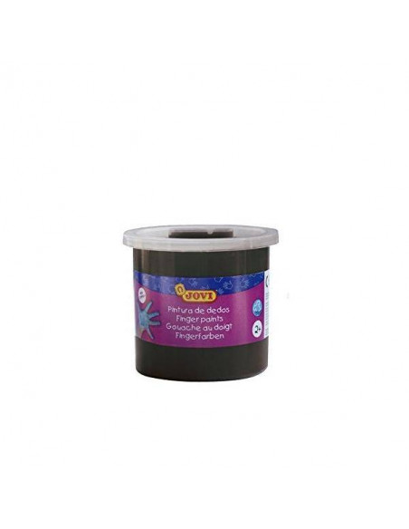 PINTURA DE DEDOS COLOR NEGRO 125 ML JOVI