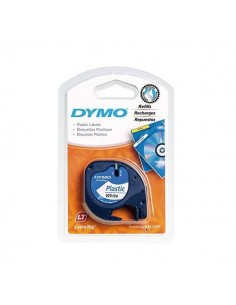 CINTA PLASTICO DYMO LETRATAG 12 MM X 4 M COLOR BLANCO