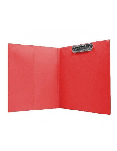 CARPETA TAMAÑO FOLIO CON CLIP SUPERIOR COLOR ROJO