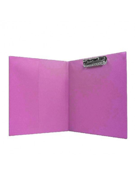 CARPETA COLOR FUCSIA TAMAÑO FOLIO CON CLIP SUPERIOR