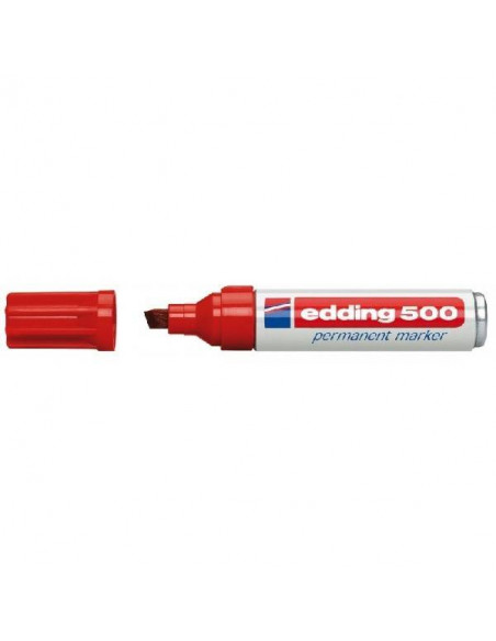 ROTULADOR PERMANENTE COLOR ROJO EDDING 500