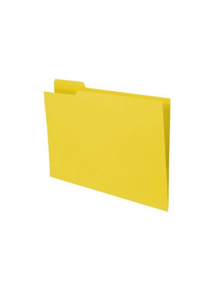 SUBCARPETA COLOR AMARILLO POCKET TAMAÑO FOLIO