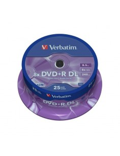 TARRINA 25 DVD +R VERBATIM 4.7 GB 16X 12