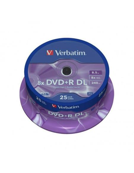 TARRINA 25 DVD +R VERBATIM 4.7 GB 16X 12