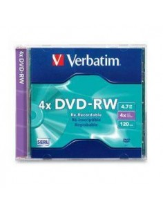DVD-RW VERBATIM 4 X 4.7GB 120 MINUTOS - REGRABABLE