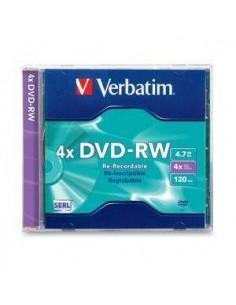 DVD-RW VERBATIM 4 X 4.7GB 120 MINUTOS - REGRABABLE