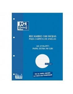 RECAMBIO A4 100 HOJAS CUADRICULA 4 X 4 OXFORD