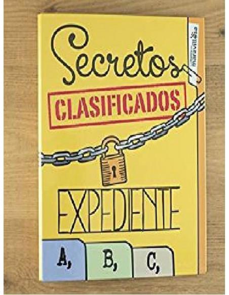 ARCHIVADOR CON MENSAJE `SECRETOS CLASIFICADOS . EXPEDIENTES A.B.C ´