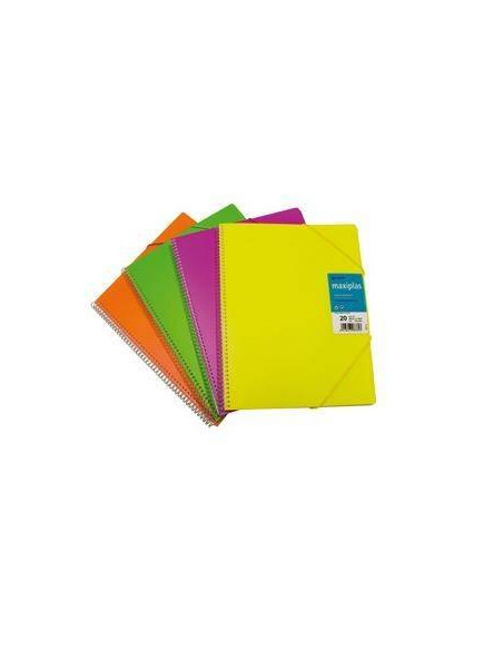 CARPETA DE FUNDAS MAXIPLAS COLOR VERDE FLUORESCENTE