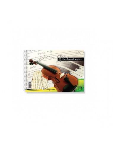 BLOCK DE MUSICA 1/4 DE 8 PENTAGRAMAS 20H. PACSA