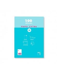 PAQUETE A4 DE 100 HOJAS CON RAYADO LISO