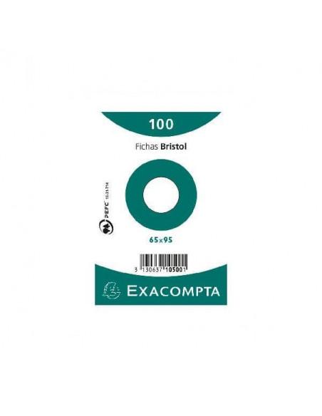 ESTUCHE DE 100 FICHAS BRISTOL DE 65X95 MM EN MODELO RAYADO LISO