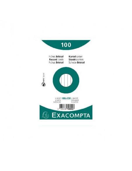 FICHAS RAYADAS PARA FICHEROS DE 205 GR BRISTOL DE 100X150 MM CAJA DE 100 UND