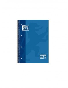 CUADERNO A4 OXFORD CUADRICULA DE COLOR AZUL
