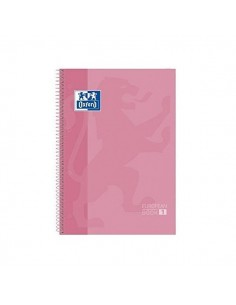 CUADERNO A4 CON BORDES DE COLOR ROSA OXFORD