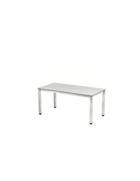 MESA EXECUTIVE 200x100 ESTRUCTURA CROMADA. TABLERO GRIS