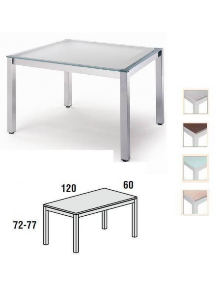 MESA EXECUTIVE ROCADA 120 X 60 CM ESTRUCTURA DE COLOR GRIS Y TABLERO EN CRISTAL