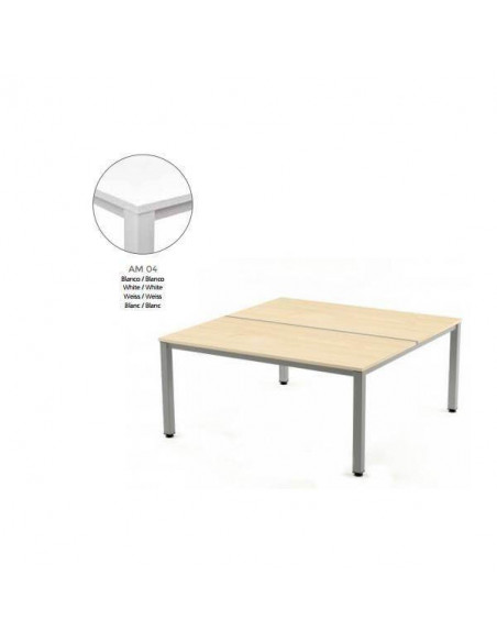 MESA EXECUTIVE DE ROCADA 100X163 CM COLOR BLANCO / BLANCO