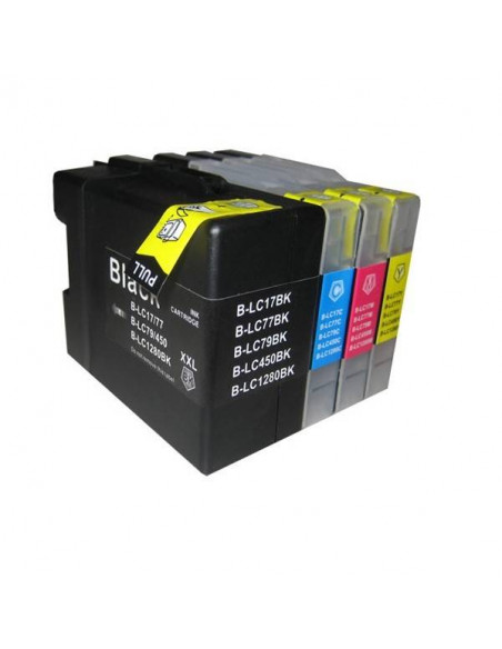 BROTHER LC1280XXBK V.3 NEGRO LC-1280BK COMPATIBLE CARTUCHO 2.400 PAG