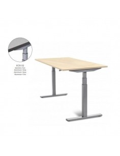 MESA DE ROCADA REGULABLE EN ALTURA ELECTRICAMENTE E-TABLE 180X80CM COLOR GRIS