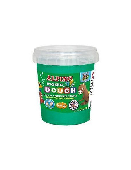 PASTA DE MODELAR ALPINO MAGIC DOUGH ENVASE DE 160 GR. VERDE
